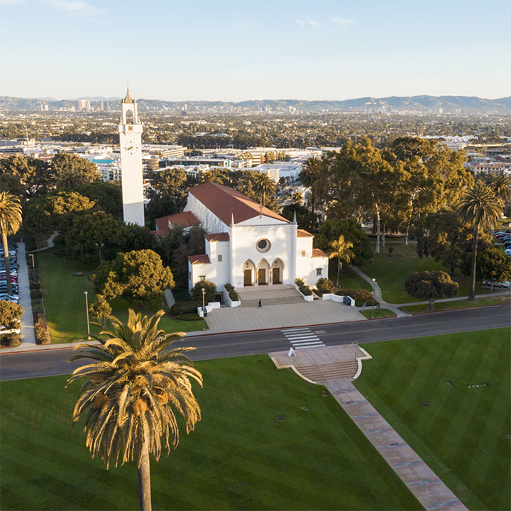 Aerial view of Sacred Heart Chapel